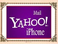 What are the steps to setup Yahoo on iPhone?