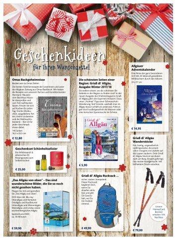 Weihnachstbeilage Allgäuer Zeitung 2017