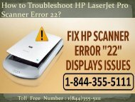 1(800)576-9647 How to Troubleshoot HP LaserJet Pro Scanner Error 22