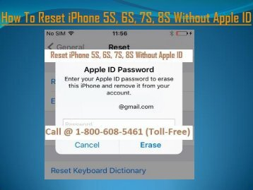 How To Reset iPhone 5S, 6S, 7S, 8S Without Apple ID? 18006085461