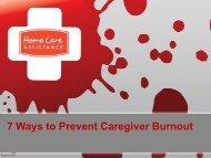 7 Ways to Prevent Caregiver Burnout