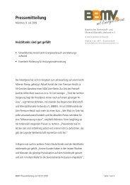 BBMV Pressemitteilung vom 09.07.2009 - Bayerischer Brennstoff