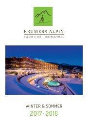 Krumers Alpin Resort | Magazin Deutsch 2017/2018