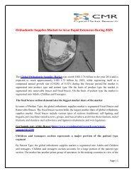 Orthodontic Supplies market_Free PR