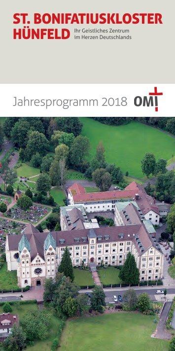 Bonifatiuskloster Jahresprogramm 2018