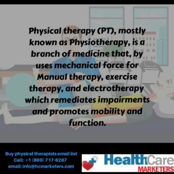 Physical therapists email list