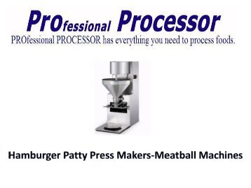 Meatball Machine | Hamburger Machine