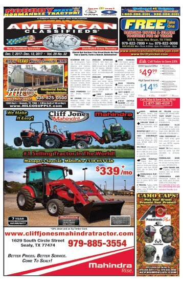 American Classifieds Dec. 7th Edition Bryan/College Station