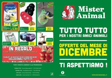 Volantino Offerte Dicembre Mister Animal