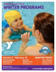 Jennersville YMCA Winter Program Guide 2018