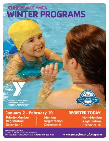 Jennersville YMCA Winter Program Guide 2018