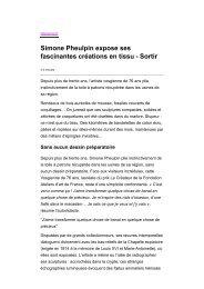 Telerama Sortir - Simone Pheulpin