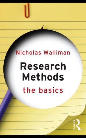 Research Methods The Basics