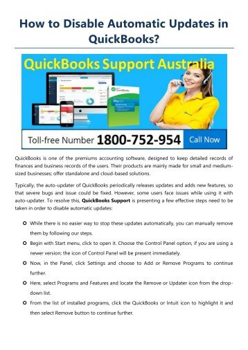 How to Disable Automatic Updates in QuickBooks?