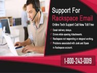 Rackspace Mail Support Number 18002430019 For Help
