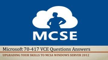 VceTests 70-417 VCE