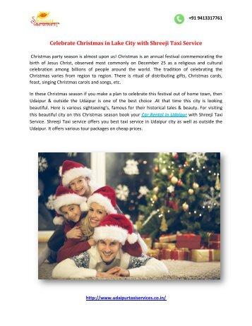 Celebrate Christmas in Lake City with Shreeji Taxi Service