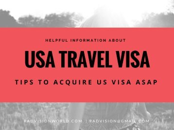 Tips to Acquire US Travel Visa ASAP