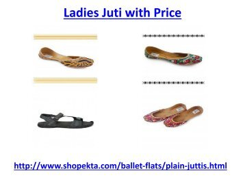 How to get ladies juti with the best price