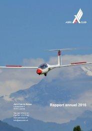 Aéro-Club de Suisse Rapport annuel 2016