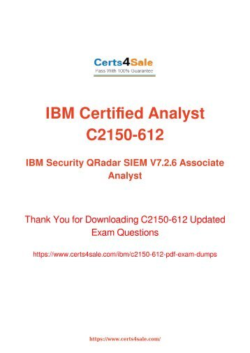 [2017] C2150-612 Exam Material - IBM C2150-612 Dumps