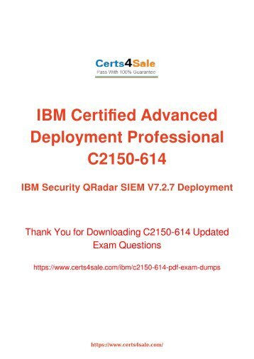 [2017] C2150-614 Exam Material - IBM C2150-614 Dumps
