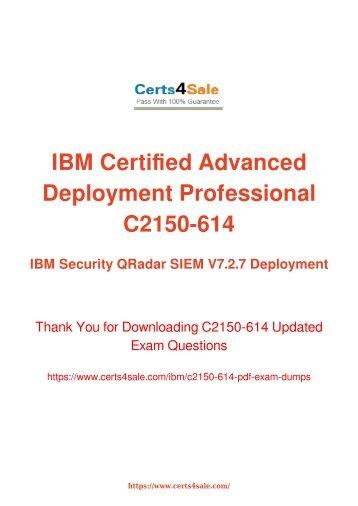 [2017] C2150-614 Exam Material - IBM C2150-614 Dumps