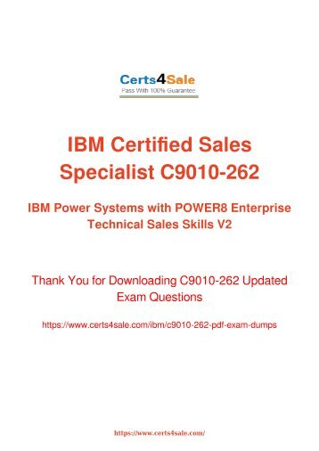 [2017] C9010-262 Exam Material - IBM C9010-262 Dumps