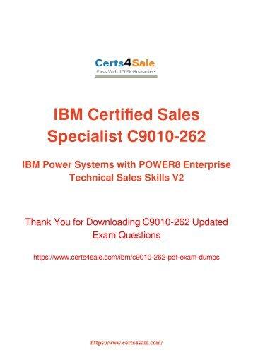 [2017] C9010-262 Exam Material - IBM C9010-262 Dumps