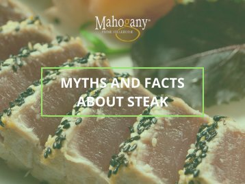 Myths and Fact about Steak