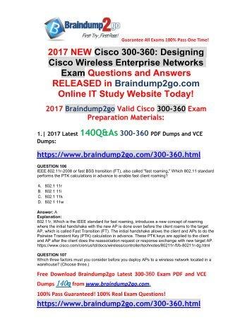 (Dec-2017-Version)New 300-360 VCE and 300-360 PDF Dumps 140Q Free Share(Q106-Q115)