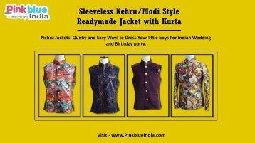 Unique Designer Nehru Jackets, Waistcoats for Baby Boys Online