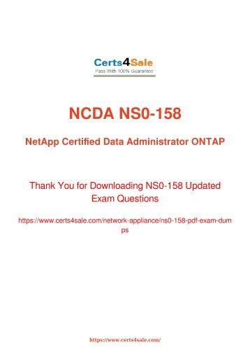 [2017] NS0-158 Exam Material - Network Appliance NS0-158 Dumps