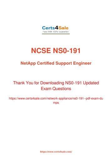 [2017] NS0-191 Exam Material - Network Appliance NS0-191 Dumps