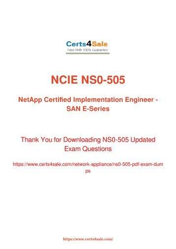 [2017] NS0-505 Exam Material - Network Appliance NS0-505 Dumps