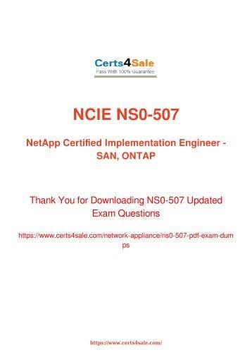 [2017] NS0-507 Exam Material - Network Appliance NS0-507 Dumps
