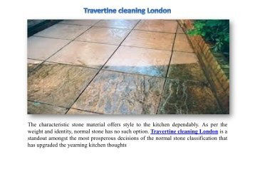 Travertine cleaning London