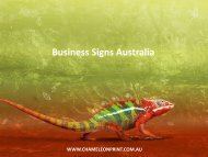 Business Signs Australia - Chameleon Print Group