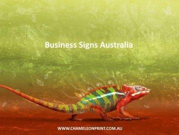 Business Signs Australia - Chameleon Print Group