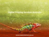 Digital Printing Services Australia - Chameleon Print Group