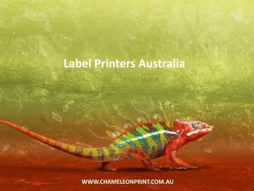 Label Printers Australia - Chameleon Print Group