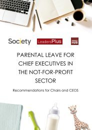 Parental Leave for Chief Executives in the Not-For-Profit Sector