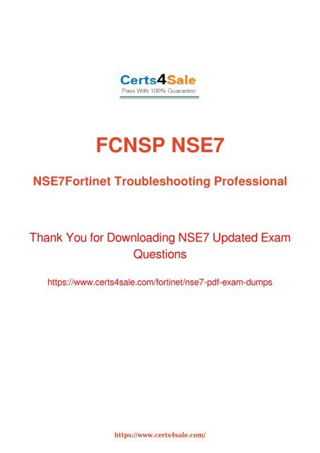 FORTINET NSE 1 EXAM - Fortinet NSE4 Exam Tutorial, NSE4