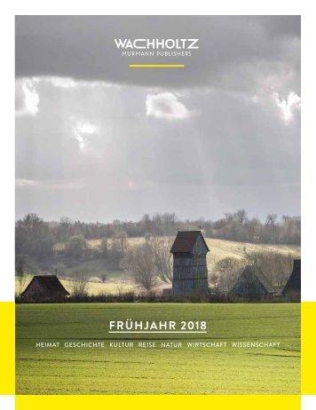 Wachholtz Verlag Verlagsprogramm 1/2018