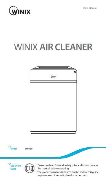 WINIX HR950 Anleitung