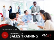 4 Top Benefits of Sales Training