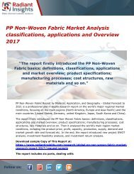 PP Non-Woven Fabric Market Analysis classifications, applications and Overview 2017