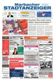 Marbacher Stadtanzeiger KW 49/2017