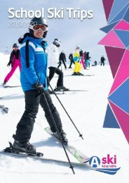 School Ski Trips Brochure 2019-20 by Ski Adaptable