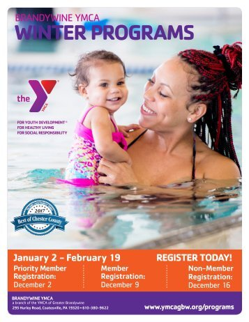 Brandywine YMCA Winter Program Guide 2018